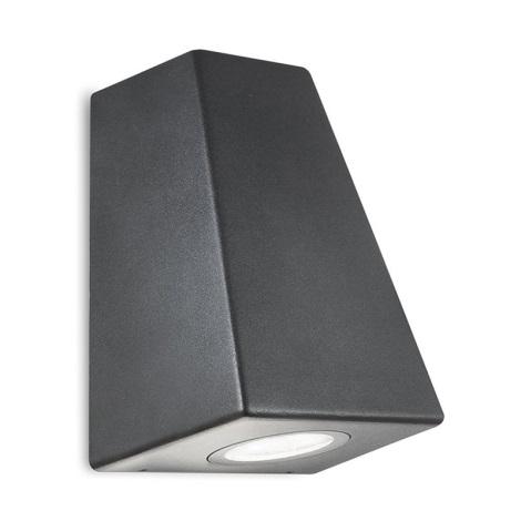Aplica perete exterior BOSTON GU10/35W IP44 patrat negru