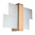 Aplică perete FENIKS 1 1xE27/60W/230V natural lemn