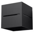 Aplică perete LOBO 1xG9/40W/230V negru