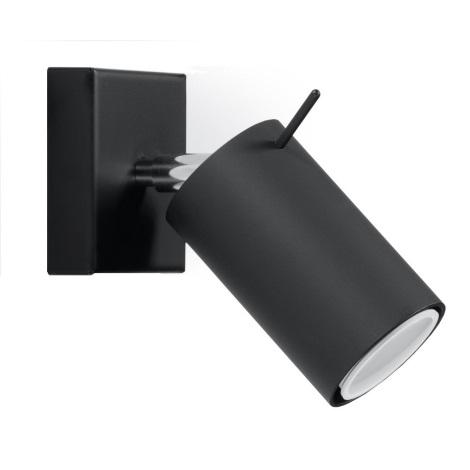 Aplică perete spot RING 1xGU10/40W/230V negru