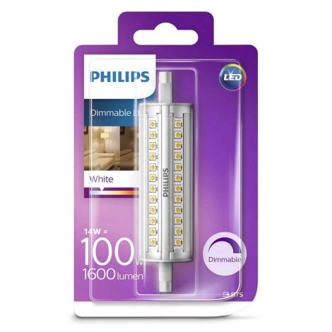 Bec dimmabil LED Philips R7s/14W/230V 3000K 118mm