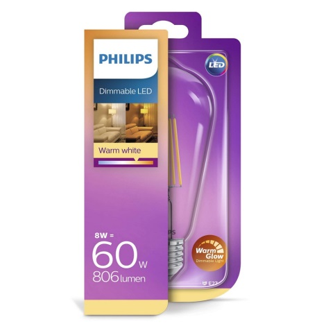 Bec LED dimmabil Philips E27/8W/230V