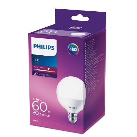 Bec LED Philips E27/9,5W/230V 2700K