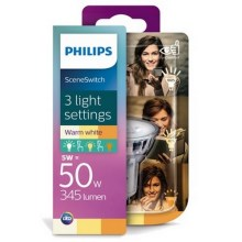 Bec LED Philips SCENE SWITCH GU10/5W/230V 2700K