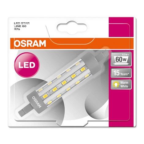Bec LED R7s/6,5W/230V 2700K lungime 118mm - Osram