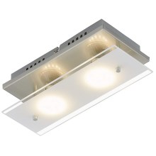 Briloner 3596-022 - Plafonieră LED TELL 2xGU10/3W/230V