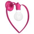 Corp de iluminat de perete pentru copii LOVE 1xE27/60W/230V roz