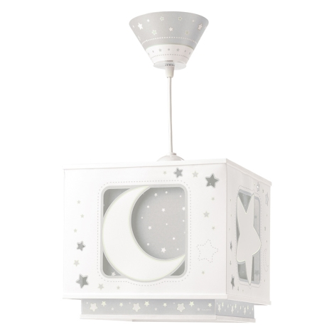 Dalber 63232E - Lustră copii MOON LIGHT 1xE27/60W/230V