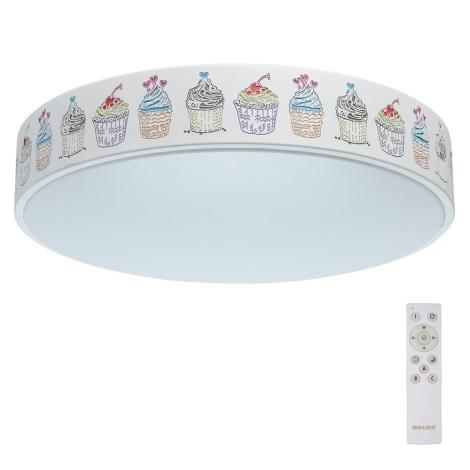 De Markt - LED Plafonieră dimmabilă copii HI-TECH 1xLED/50W/230V + control la distanță