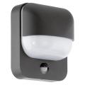 Eglo 78596 - Aplică perete exterior cu senzor TRABADA 1xE27/40W/230V IP44