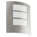 EGLO 88142 - Corp de iluminat perete exterior cu senzor CITY 1xE27/15W