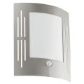 EGLO 88144 - Senzor Corp de iluminat perete exterior CITY 1xE27/15W