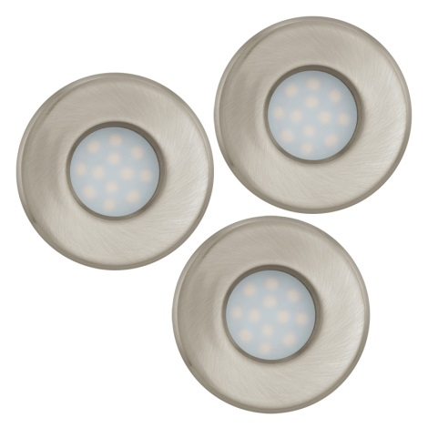 Eglo 93221 - SET 3x Corp de iluminat LED baie tavan fals IGOA 3xGU10/5W/230V