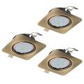 Eglo 94269 - SET 3x Corp de iluminat LED tavan fals PENETO 3xGU10-LED/5W/230V