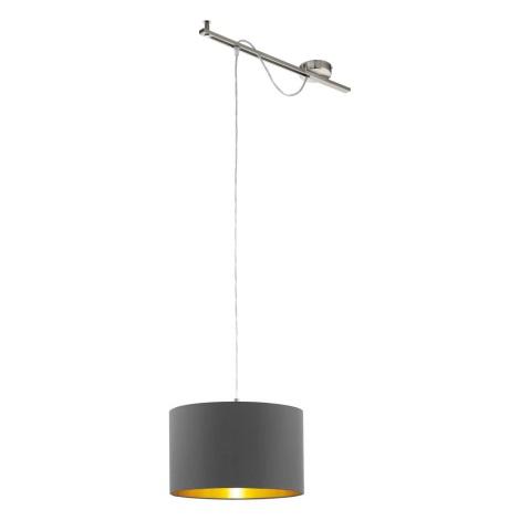 Eglo 96799 - Lampa suspendata CALCENA 1xE27/60W/230V maro inchis