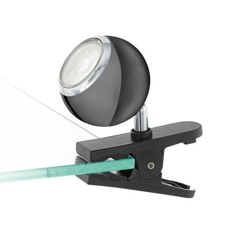 Eglo 96838 - LED Lampa spot cu clip BIMEDA 1xGU10/3,3W/230V negru
