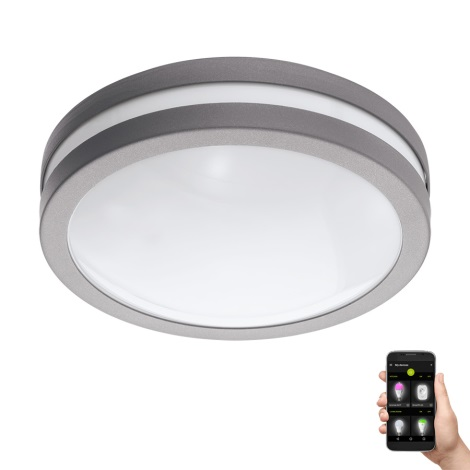 Eglo 97299 - LED Plafoniera baie LOCANA-C LED/14W/230V gri