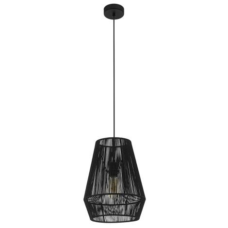 Eglo 97905 - Lustră pe cablu PALMONES 1xE27/60W/230V negru
