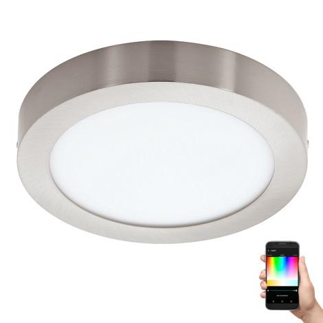 Eglo - LED RGB Plafoniera FUEVA-C LED/15,6W/230V crom mat rotund