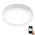 Eglo - LED RGB Plafoniera FUEVA-C LED/21W/230V alb rotund