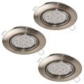 Eglo - SET 3x Corp de iluminat LED tavan fals 3xGU10-LED/5W/230V