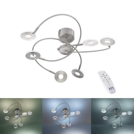 Fischer & Honsel 20532 - LED Lampă spot dimmabilă DENT 6xLED/6W/230V + Telecomandă