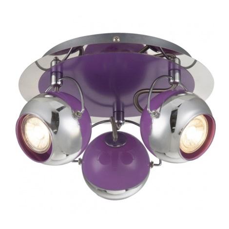 Globo 57887-3 - LED Lampa spot SPLASH 3xGU10/5W/230V Mov
