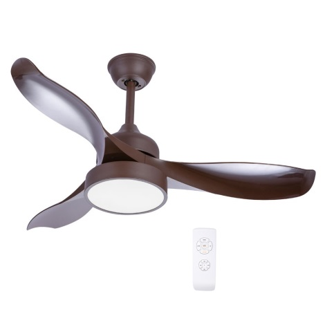 Globo - LED Ventilator de tavan 1xLED/18W/230V + telecomandă