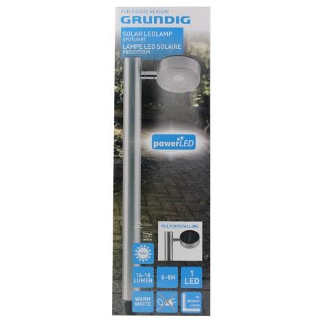 Grundig - LED Lampă spot solară 1xLED/3,2V