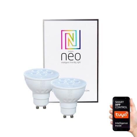 Immax NEO - 2xBec LED dimmabil GU10/4,8W/230V ZigBee