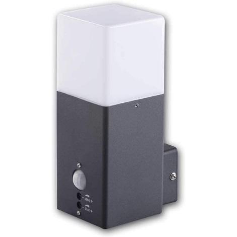 Kanlux 29011 - Aplică perete exterior cu senzor VADRA 1xE27/11W/230V IP44