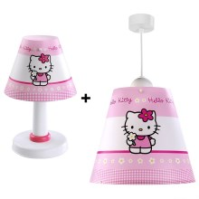 Klik 2125 - SET Lampa copii + Lampa de masa HELLO KITTY E27/60W