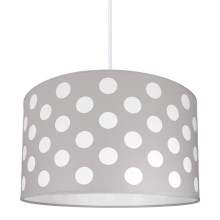 Lampa copii DOTS GREY 1xE27/60W/230V