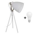 Lampa de masa 1xE27/60W/230V alb 52cm