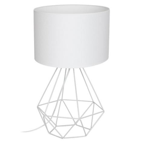 Lampa de masa BASKET 1xE27/60W/230V alb