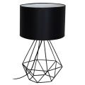 Lampa de masa BASKET 1xE27/60W/230V negru