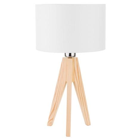 Lampa de masa DOVE WOOD 1xE27/60W/230V alb