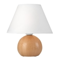 Lampă de masă JUTA 1xE27/60W/230V stejar/alb