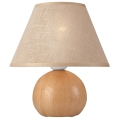 Lampă de masă JUTA 1xE27/60W/230V stejar/bej