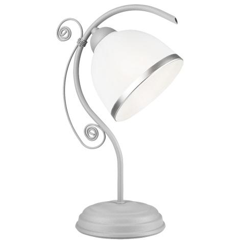 Lampă de masă RETRO II 1xE27/60W/230V argintiu