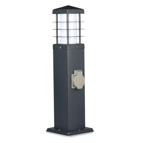 Lampă exterior cu prize 1xE27/13W/230V IP44