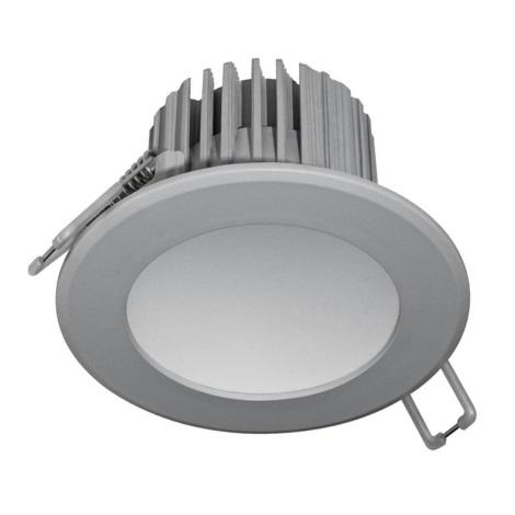 Lampă încastrată baie LED LED/7W/230V 2800K gri
