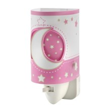 Lampa LED in soclu PINK MOON LED/0,5W