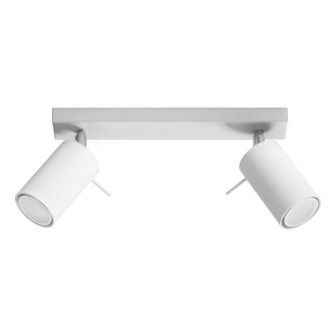 Lampă spot RING 2 2xGU10/40W/230V alb