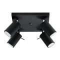 Lampă spot RING 4 4xGU10/40W/230V negru