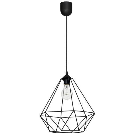 Lampă suspendată BASKET 1xE27/60W/230V negru