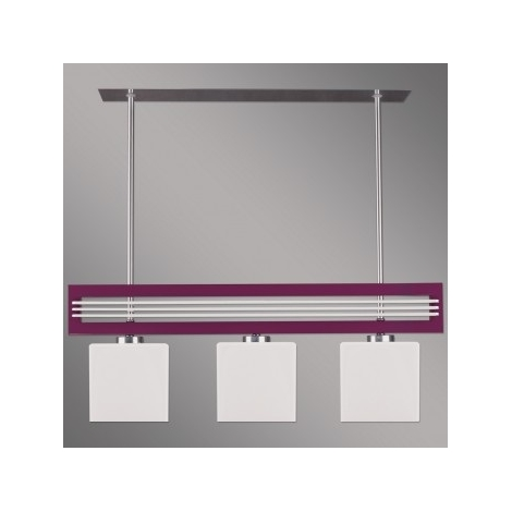Lampa suspendata SANGA 3xE14/60W violet