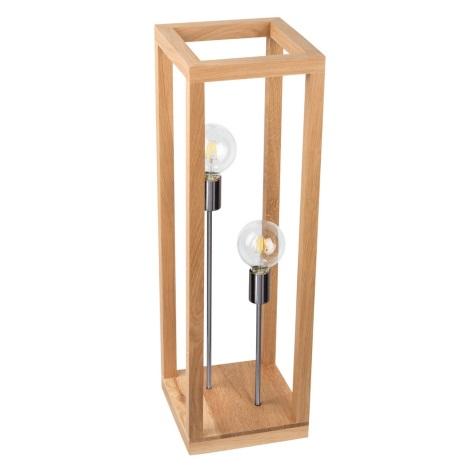 Lampadar KAGO 2xE27/60W/230V stejar mat