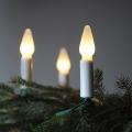 Lanț de crăciun FELICIA 10,5 m 16xE10/14V/230V alb
