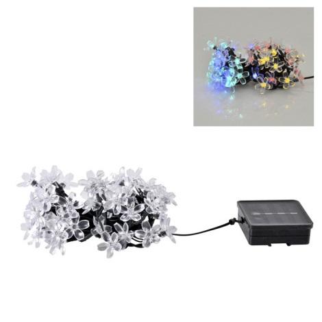 Lanț solar LED FLOWER 50xLED/1,2V IP44